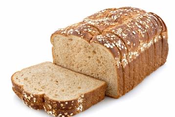 Oat topped whole grain bread.
