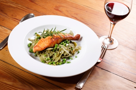 Fish and wine are components of the Mediterranean diet